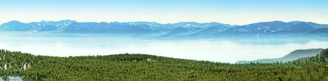 Tahoe jeziorna panorama Fotografia Royalty Free