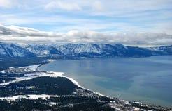 tahoe jeziorna południowa zima obraz royalty free