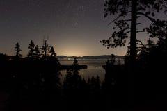 Tahoe natt Fotografering för Bildbyråer