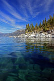 Tahoe's crystal clear water Stock Photos