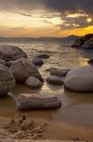 Tahoe solnedgång 2 Arkivbild