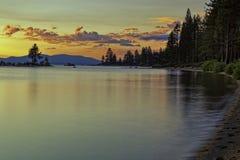 Tahoe solnedgång Royaltyfria Bilder