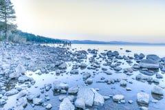 Tahoe soluppgång Arkivbilder