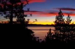 Tahoe Sunset royalty free stock photos