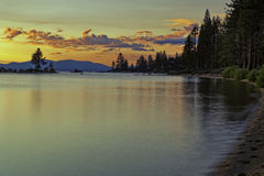 Tahoe Sunset. Sot taken at sunset from Zypher cove, Lake Tahoe Royalty Free Stock Images