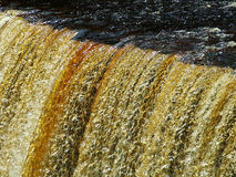 Tahquahmenom Falls. In the Upper Pennisular of Michigan. Nicknamed the Rootbeer Falls for its color royalty free stock images