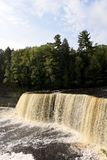 Tahquamenon Falls. This is a Fall picture of the iconic Tahquamenon Falls in Tahquamenon Falls State Park in Paradise, Michigan in Chippewa County. This fall is stock photo