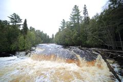 Tahquamenon Falls - Lower royalty free stock photo