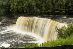 Tahquamenon Falls. Upper Waterfall in the beautiful Tahquamenon Falls State Park Royalty Free Stock Photo