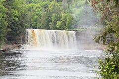 Tahquamenon nedgångar i Michigan övrehalvö Royaltyfria Foton