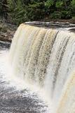 Tahquamenon nedgångar i Michigan övrehalvö Fotografering för Bildbyråer