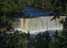 Tahquamenon superior baja en Michigan Imagen de archivo libre de regalías