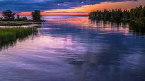 Tahquamenon wschód słońca Fotografia Stock