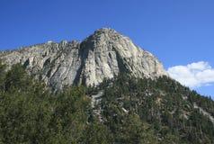 Tahquitz Rock. Giant granite peak in the mountains, California Stock Images
