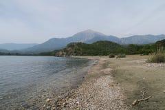 Tahtali Dagi - Olympos - Mountain as seen from the Coast in Tekirova, Kemer, Turkey Stock Photo