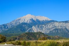 Tahtali mountain near Kemer, Turkey, in autumn. Tahtali mountain Tahtalı Dağı near Kemer, Turkey, in autumn Stock Photography