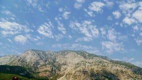Tahtali mountain and sky. Tahtali mountain and blue sky Royalty Free Stock Photo