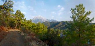 Tahtali way. Tahtali mount and way in Turkey Stock Photos