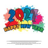 Happy New Year 2027 with balloon. card stock, flat design. EPS file available. Please see more images related stock illustration