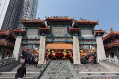 tai αμαρτίας του Χογκ Κογκ ναός wong στοκ εικόνες