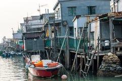 Tai Ο σπίτια ξυλοποδάρων ψαροχώρι στο Χονγκ Κονγκ Στοκ Εικόνες