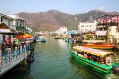 Tai Ο ψαροχώρι στο νησί Lantau, Χονγκ Κονγκ Στοκ εικόνες με δικαίωμα ελεύθερης χρήσης