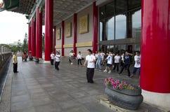 Tai-хи практикуя Тайбэй стоковое изображение rf