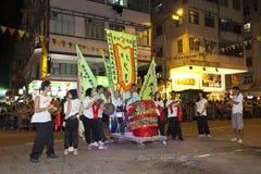 Tai-Bedeutungs-Feuer-Drache-Tanz in Hong Kong Stockfotografie