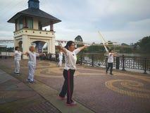 Tai Chi ασκήσεις Στοκ φωτογραφίες με δικαίωμα ελεύθερης χρήσης