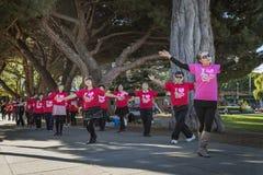 Tai Chi auf den Straßen von San Francisco Lizenzfreies Stockbild