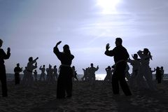 Tai Chi Beach I Stock Images