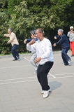 Tai Chi in Beijing, China Stock Photography