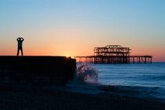 Tai Chi and Brighton Dawn Stock Photos