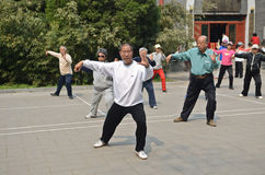 Tai Chi in China Royalty Free Stock Images