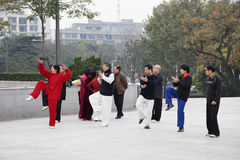 Tai Chi Chuan in the morning Stock Image