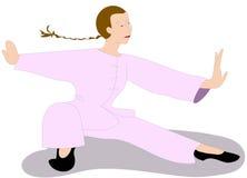 Tai chi colors. Tai chi exercise woman chinese Royalty Free Stock Photos