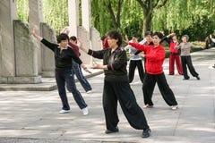 Tai Chi demonstration Stock Photos