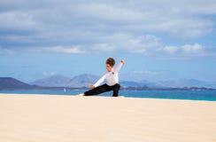 Tai chi in the dunes Stock Photo