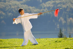 Tai Chi exercise Royalty Free Stock Photo