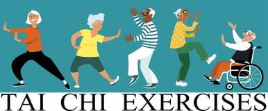 Free Tai Chi Exercises Royalty Free Stock Photography - 98682407