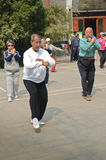 Tai Chi in the morning, China Royalty Free Stock Photo