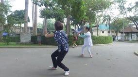 Tai Chi practice stock video footage
