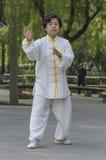 Tai Chi practitioners Stock Photo