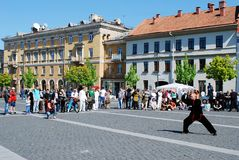 Tai Chi and Qi Gong day in Vilnius city Stock Photos