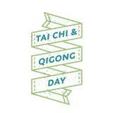 Tai Chi and Qigong day greeting emblem Royalty Free Stock Photography