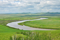 Tai chi river. River like Tai Chi Eight Diagrams Stock Photography