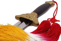 Tai Chi sword stock photo