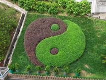 Tai Chi Symbol in garden, wong tai sin temple Royalty Free Stock Photo