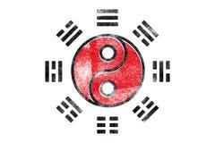 Tai Chi Symbol. The tai chi Yin Yan symbol distressed Stock Photos