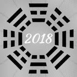 Tai-Chi und bagua Symbol Stockbilder